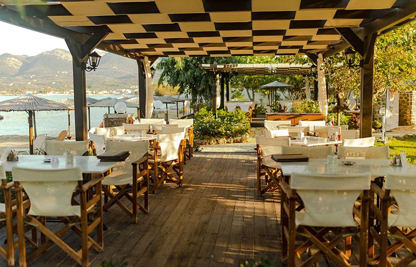 Restaurant | Robolla Beach Aparthotel Roda Corfu