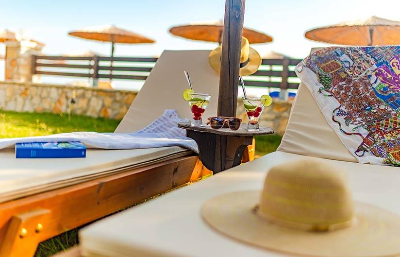 Sunbeds | Robolla Beach Aparthotel Roda Corfu